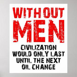 Civilisation utan den roliga affischen för manar poster
