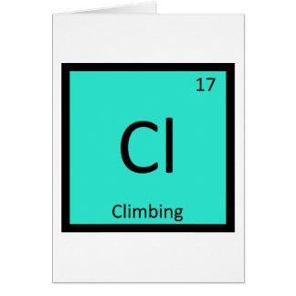 Cl - periodiskt bord för klättringsportkemi hälsningskort