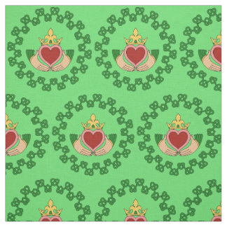 Claddagh och grönt Knotwork Tyg