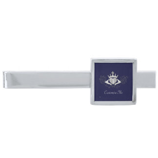 Claddaghen (silver) slipsnål med silverfinish