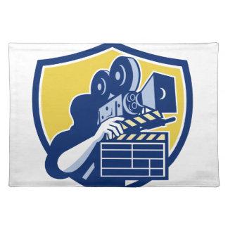 Clapboarden för kameran för Cameramanvintagefilmen Bordstablett