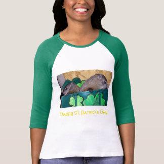 Clara och Maude St Patrick dagT-tröja T Shirts