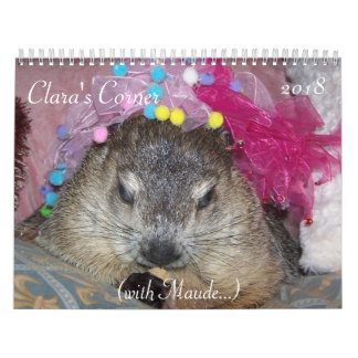Claras 2018 tränga någon Groundhog kalender A