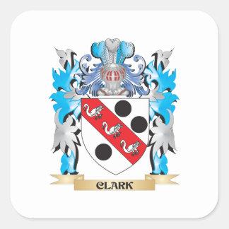 Clark vapensköld - familjvapensköld fyrkantigt klistermärke