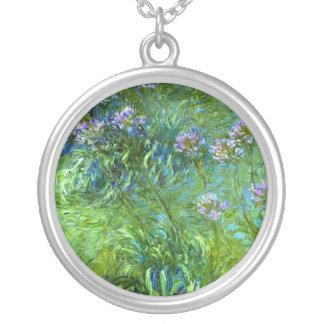 Claude Monet: Agapanthus Silverpläterat Halsband