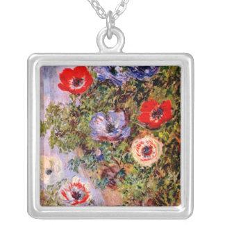Claude Monet: Anemoner Silverpläterat Halsband