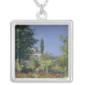 Claude Monet | blomma trädgård på Sainte-Adresse Silverpläterat Halsband