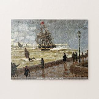 Claude Monet - brygga av Le Havre i dåligt väder Pussel