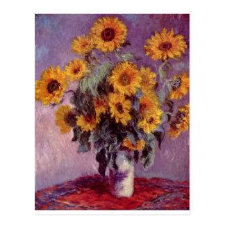 Claude Monet bukett av solrosor Vykort
