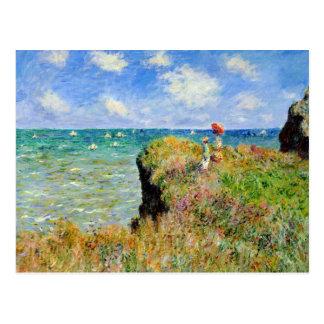 Claude Monet Clifftop går Vykort