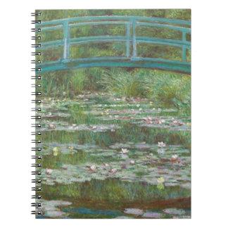 Claude Monet | den japanska spången, 1899 Anteckningsbok Med Spiral