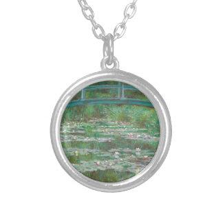 Claude Monet - den japanska spången Silverpläterat Halsband