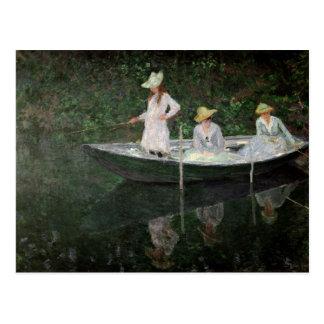 Claude Monet | fartyget på Giverny, c.1887 Vykort