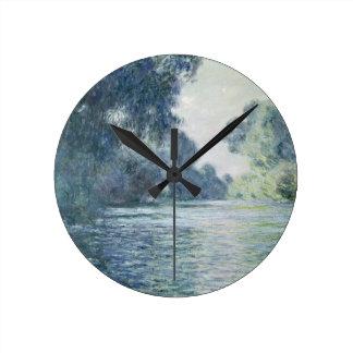 Claude Monet | gren av Seinen nära Giverny Rund Klocka