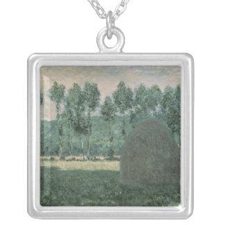 Claude Monet   höstackar near Giverny, c.1884-89 Silverpläterat Halsband