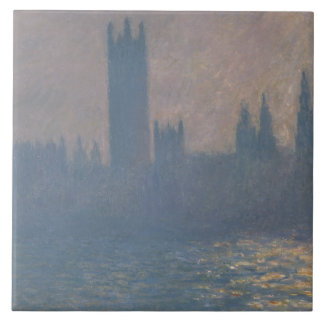 Claude Monet - hus av parlamentet, solljus Kakelplatta