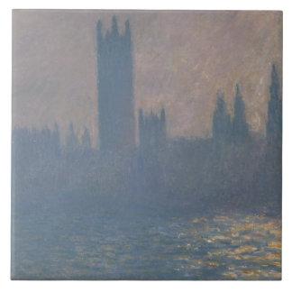 Claude Monet - hus av parlamentet, solljus Stor Kakelplatta