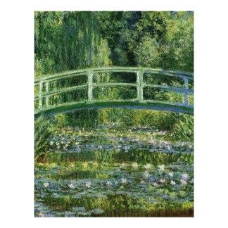 Claude Monet - japanen överbryggar Brevhuvud