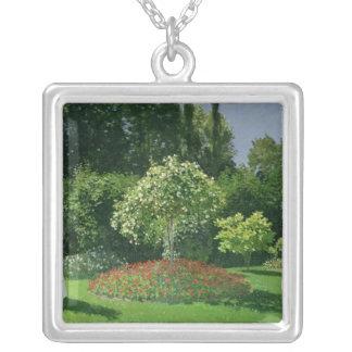 Claude Monet | Jeanne Marie Lecadre i trädgården Silverpläterat Halsband