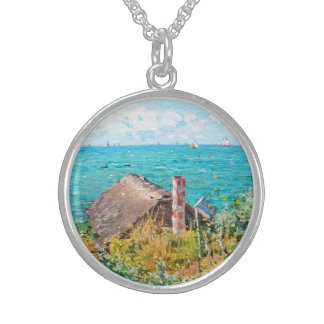 Claude Monet kabinen på Sanktt-Adresse konst Sterling Silver Halsband