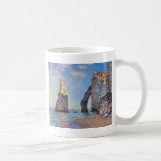 Claude Monet //klipporna på Etretat Kaffemugg