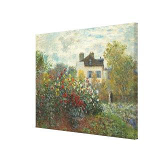 Claude Monet | konstnärens trädgård i Argenteuil Canvastryck