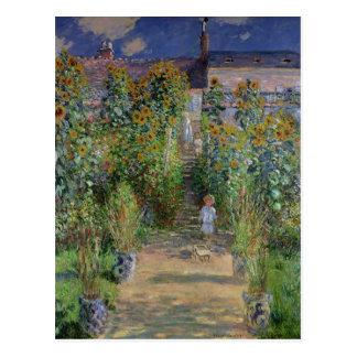 Claude Monet | konstnärens trädgård på Vetheuil Vykort