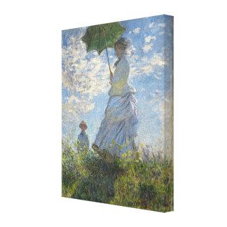 Claude Monet kvinna med en ett slags solskyddkonst Canvastryck