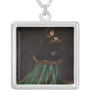 Claude Monet | kvinnan i den gröna klänningen, Silverpläterat Halsband