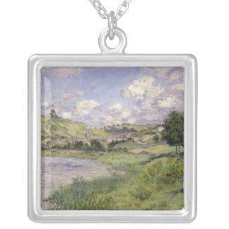 Claude Monet   landskap, Vetheuil, 1879 Silverpläterat Halsband