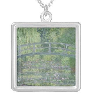 Claude Monet   näckrosdamm: Grön harmoni Silverpläterat Halsband