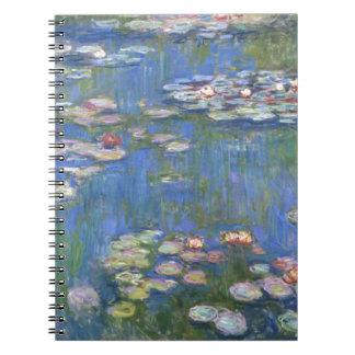 Claude Monet //näckrosor Anteckningsbok Med Spiral