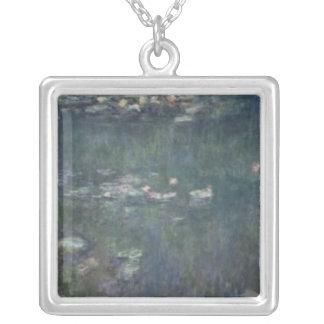 Claude Monet   näckrosor: Gröna reflexioner Silverpläterat Halsband