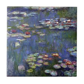 Claude Monet näckrosor Kakelplatta