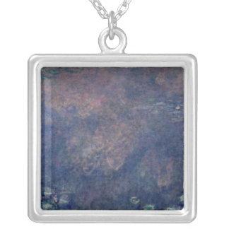 Claude Monet | näckrosor: Tårpilar centrerar Silverpläterat Halsband