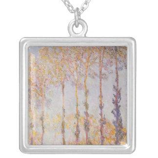 Claude Monet | Poplars på banker av Epten Silverpläterat Halsband