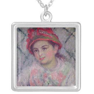 Claude Monet | porträtt av Blanche Hoschede Silverpläterat Halsband