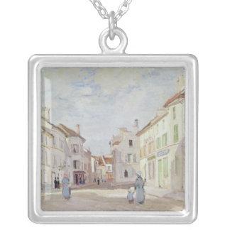 Claude Monet | Rue de la Chaussee på Argenteuil Silverpläterat Halsband