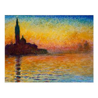 Claude Monet-San Giorgio Maggiore på Vykort