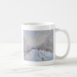 Claude Monet //snö på Argenteuil Kaffemugg