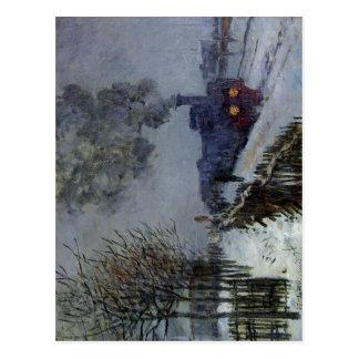 Claude Monet tåg i den snöteknikoljan 1875 Vykort