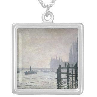Claude Monet | Thamesen nedanföra Westminster Silverpläterat Halsband