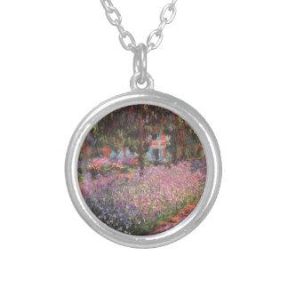 Claude Monet //trädgård på Giverny Silverpläterat Halsband