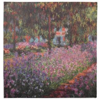 Claude Monet //trädgård på Giverny Tygservett