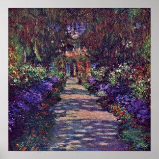 Claude Monet - trädgårds- väg Poster