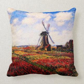 Claude Monet-Tulpan fält Kudde