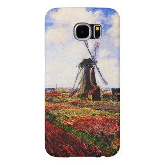 Claude Monet-Tulpan fält Samsung Galaxy S6 Fodral