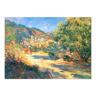 Claude Monet: Vägen till Monte - carlo 12,7 X 17,8 Cm Inbjudningskort