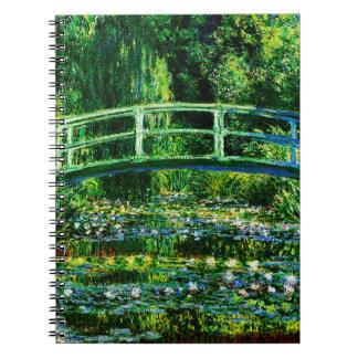 Claude Monet-Vatten-Lilja damm Anteckningsbok