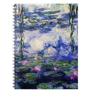 Claude Monet-Vatten-Liljar Anteckningsbok